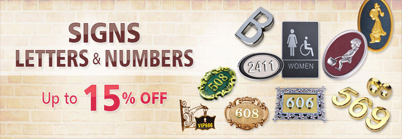 Signs Letters and Numbers Promotion