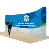 17ft Curved Back Wall Display with Custom Fabric Graphic