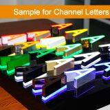 Samnple for Channel Letters-A Random Letter Product