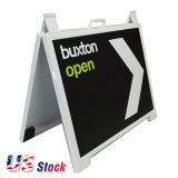US Stock-2.07ft x 1.67ft A-Frame Plastic Pavement Sidewalk Sandwich Sign Board - WHITE(Out of Stock)