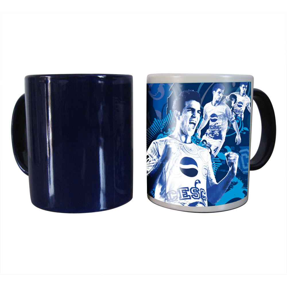 11OZ Blank Sublimation Color Changing Mugs, Magic Cup, Full Color Changing (Black/Glossy)