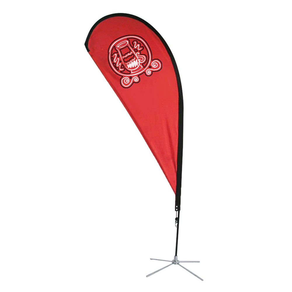 8.2 ft Teardrop Banner with Cross Base