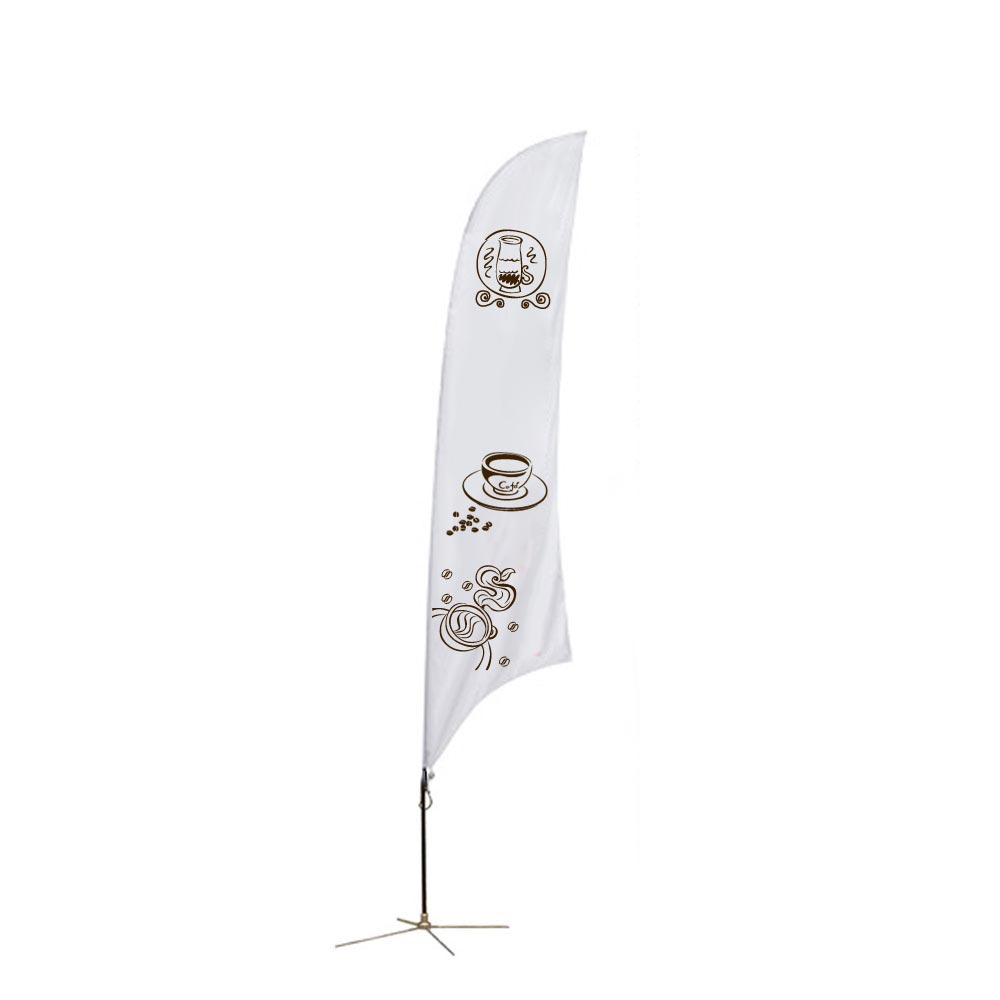 9.8 ft Feather Banner with Cross Base (Single Sided Printing)