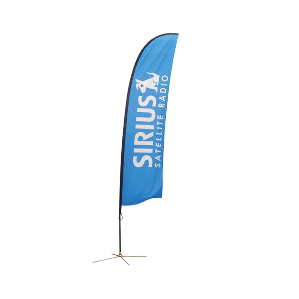 9.8 ft Wing Banner with Cross Base (Single Sided Printing)