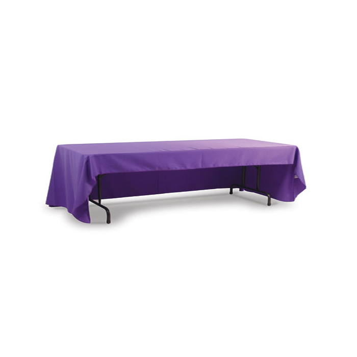 8ft(3)Full Length Sides Table Throws with Customs Dye-sublimation Full Color Printing, Rounded Corners
