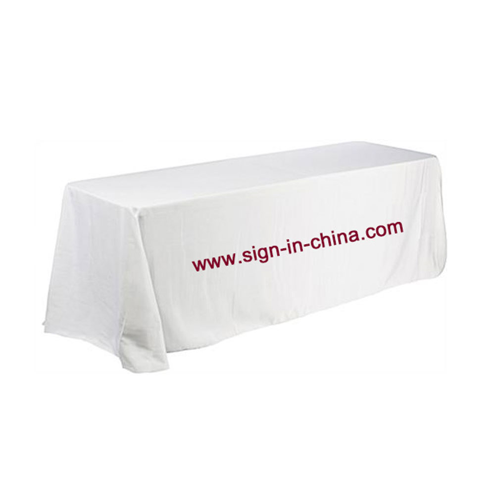 6ft(4) Full Length Sides Rectangular Dye-sublimation Table Throws with Custom Logo (Multicolor optional)