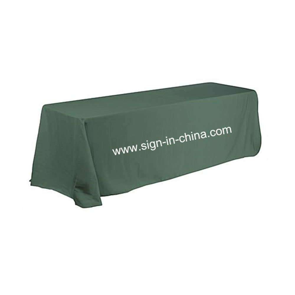 8FT(4) Full Length Sides Rectangular Dye-sublimation Table Throws with Custom Logo (Multicolor optional)