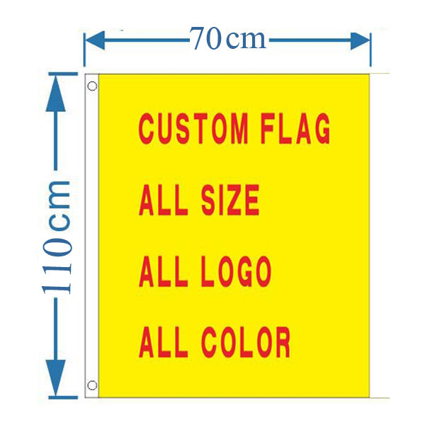 2.3´ x 3.6´ Custom Design Rectangle Flag Banner(Only Graphic)