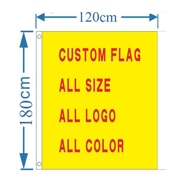 3.94´ x 5.9´ Custom Design Rectangle Flag Banner(Only Graphic)
