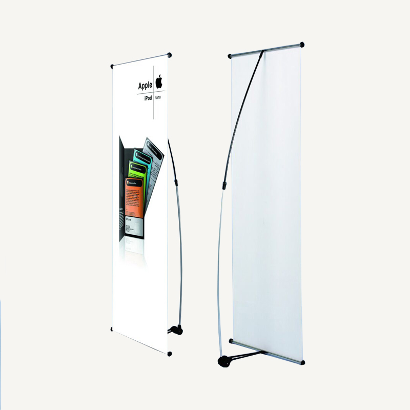60 x 180cm One-piece Base and Pole L Banner (Graphic Included)
