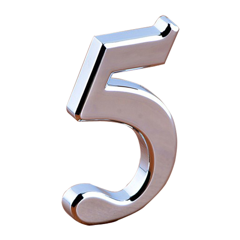 Modern House Door Address Plaque Numbers Plating Numbers (Several Sizes Available)
