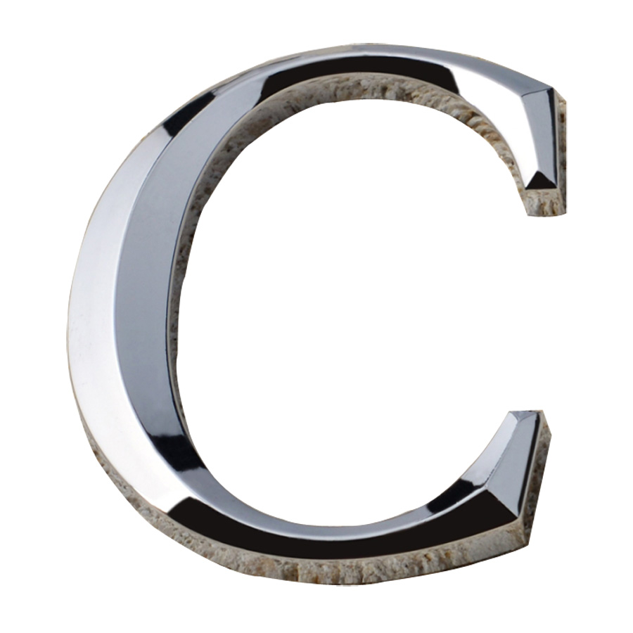 Modern House Plaque Mail Box 3D Silver Letters (Several Sizes Available)