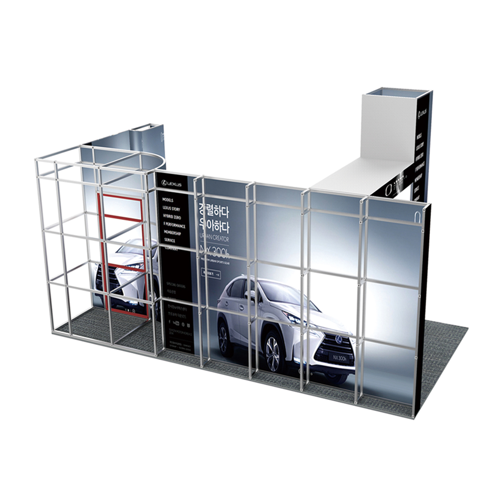 10ft x 20ft No Tool Assembly Modular Trade Display System
