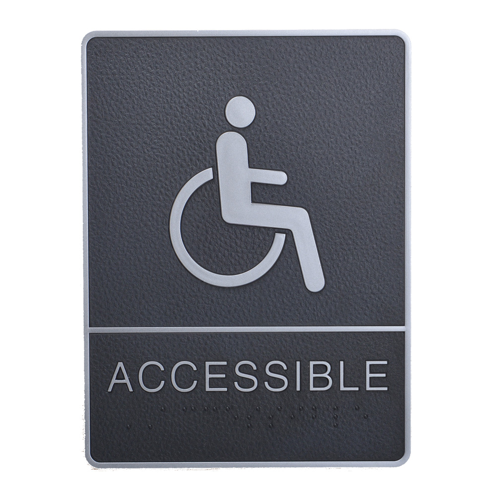 Disabled, Toilet, Restroom Signs With Braille, ABS New Material