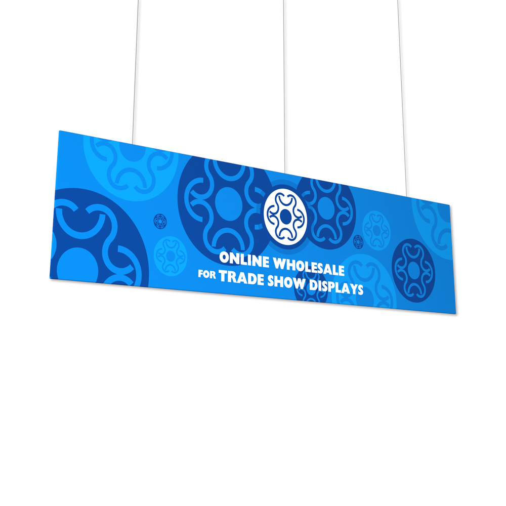 Flat Panel Fabric Tension Hanging Banner with Graphic