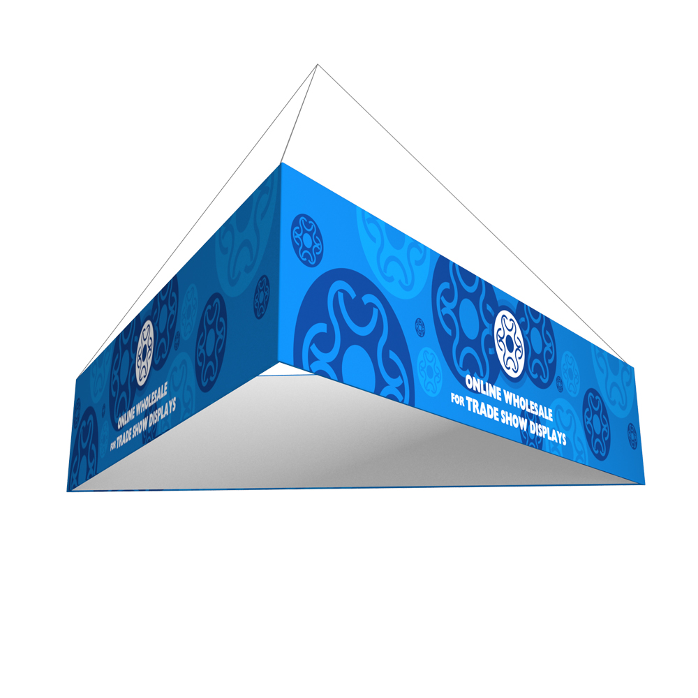 Triangle Tension Fabric Hanging Sign Tradeshow Display with Graphic