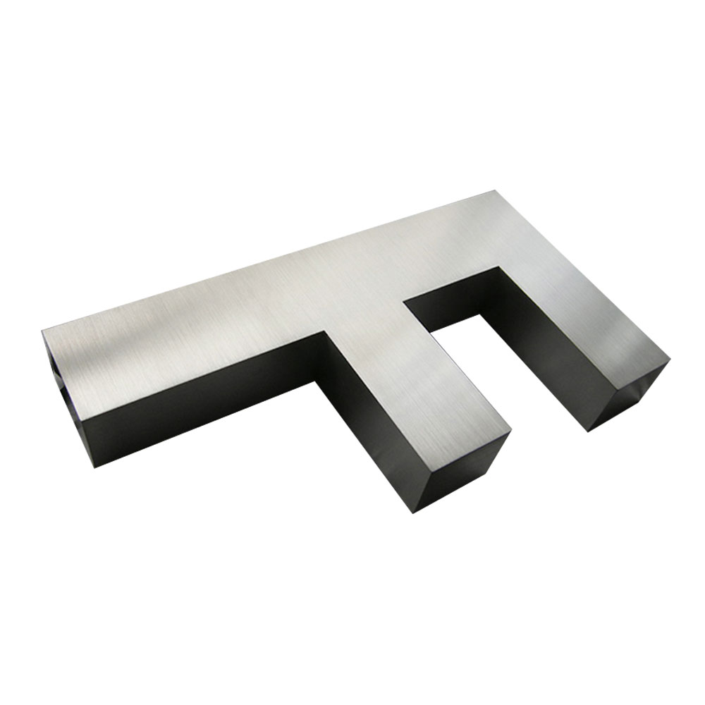 Modern Brushed Stainless Steel Letters & Numbers (Height: 39.6-118.1 inch)