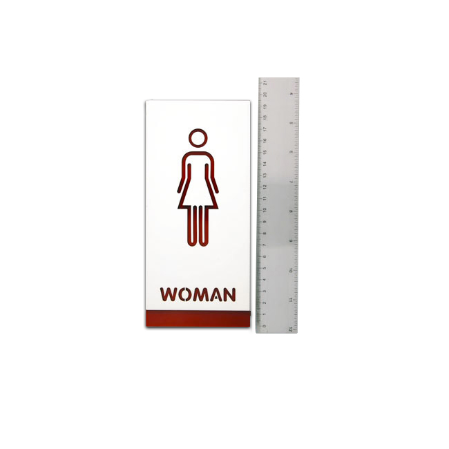 Female, Toilet, Restroom Signs, Acrylic