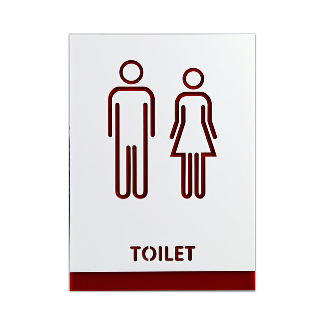 Male / Female, Toilet, Restroom Signs, Acrylic