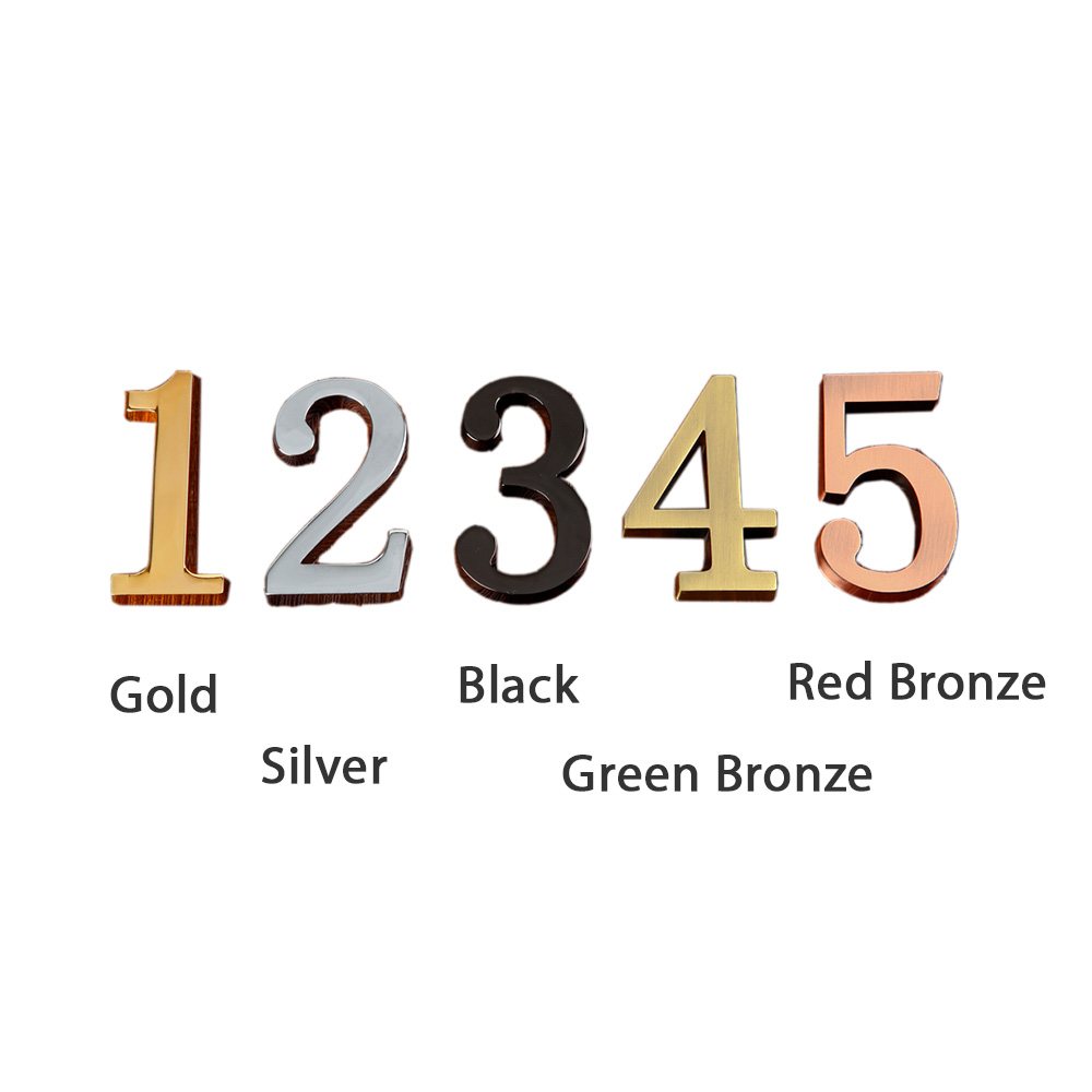 High Quality Mini Metal Numbers with Self-stick for Address Plaque (Item Height: 48mm)