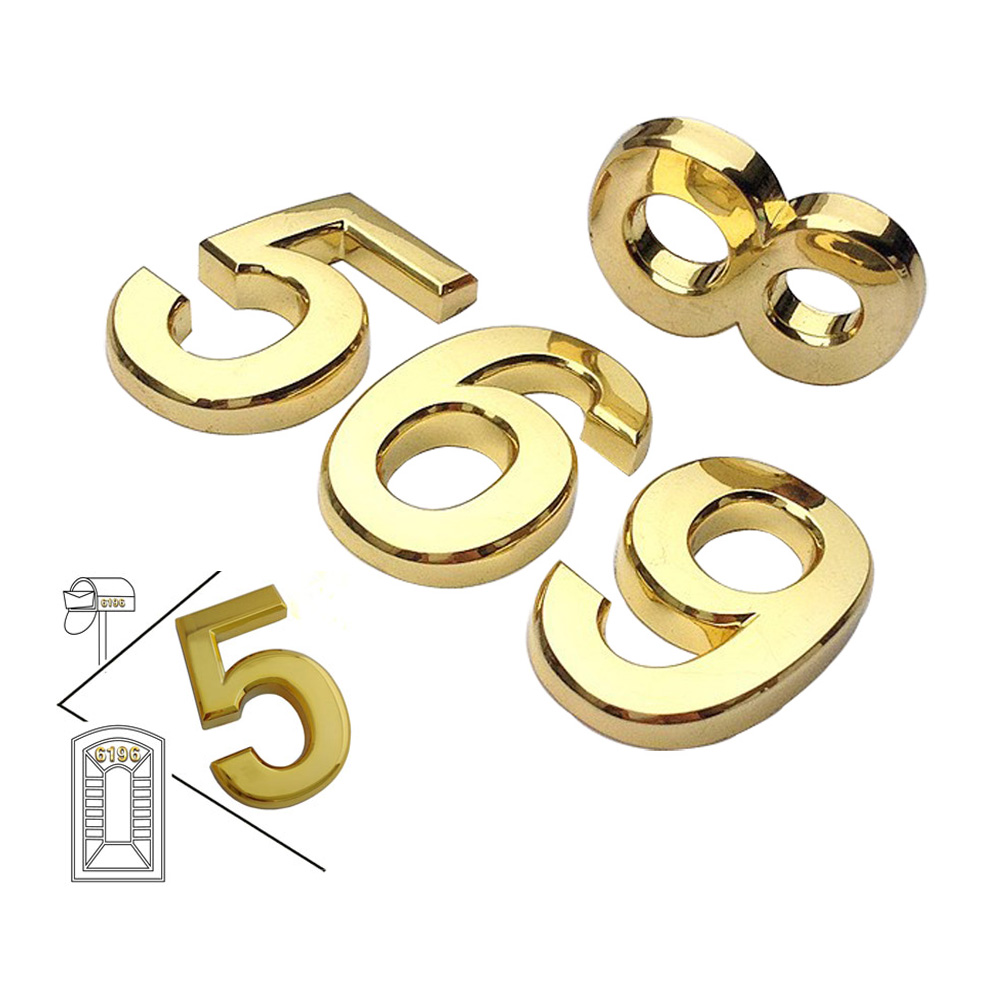 Modern House Plaque Mail Box Golden Numbers (Several Sizes Available)
