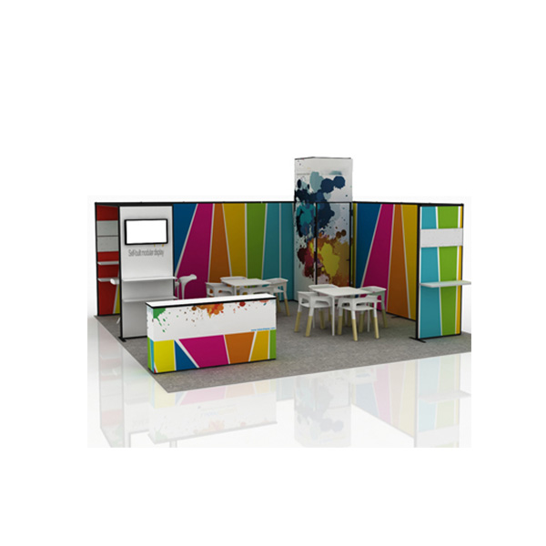 20ft x 20ft LB03 Fabric Tension Display System (Graphic Included)