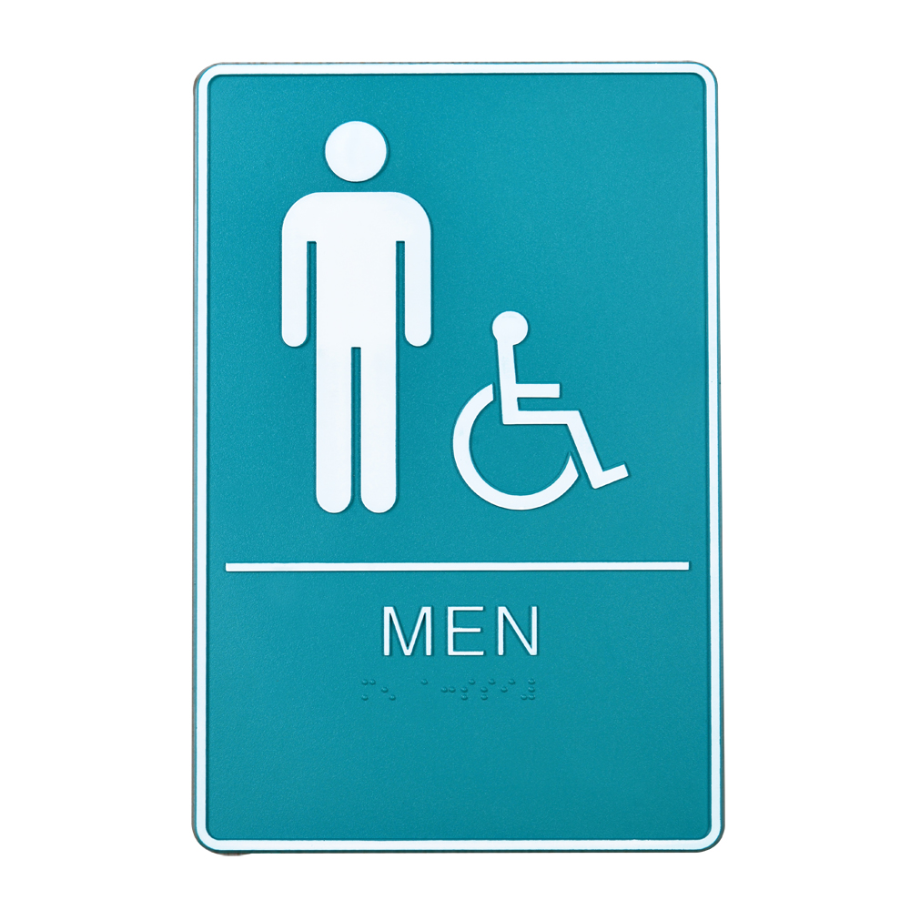 Male / Disabled, Toilet, Restroom Signs With Braille, ABS Plastic