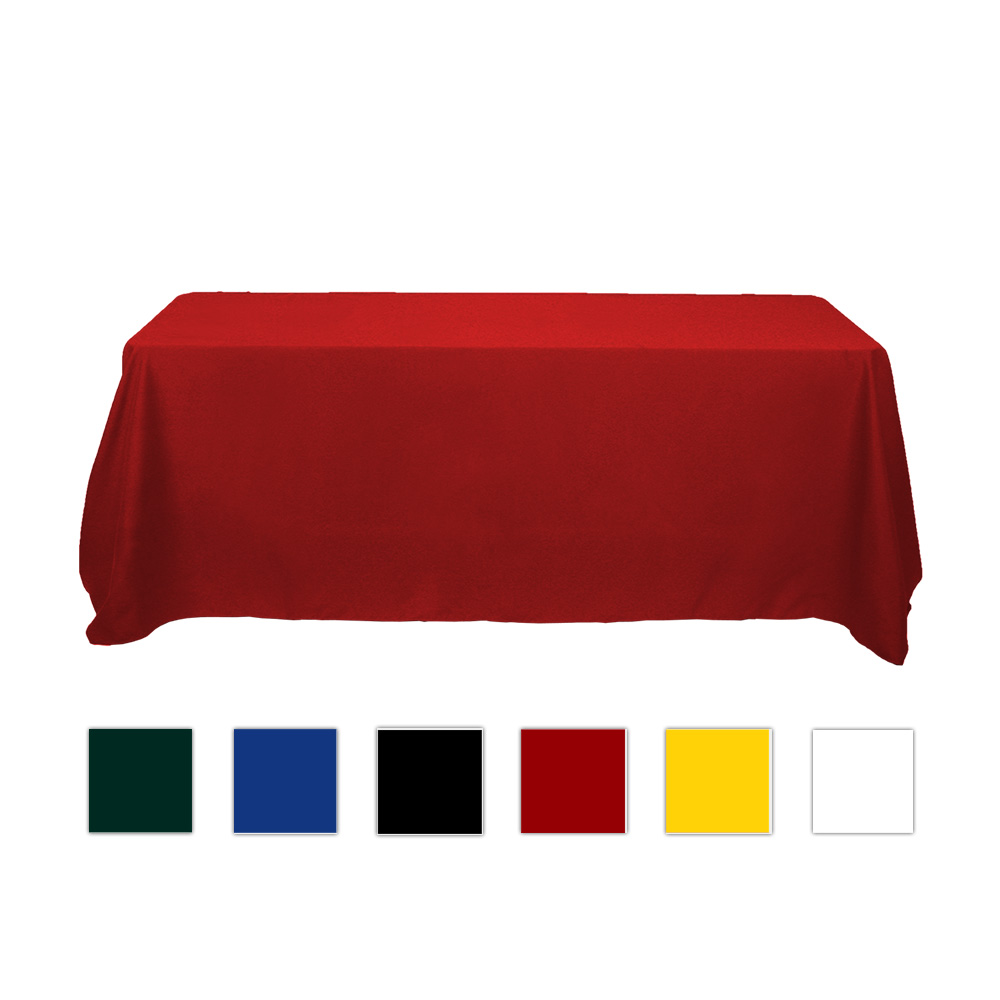 6ft Economical Rectangular Solid Color Table Throw