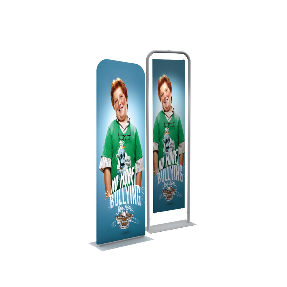 "24"" Silver EZ Tube Banner Stand with Custom Prnting Graphic"