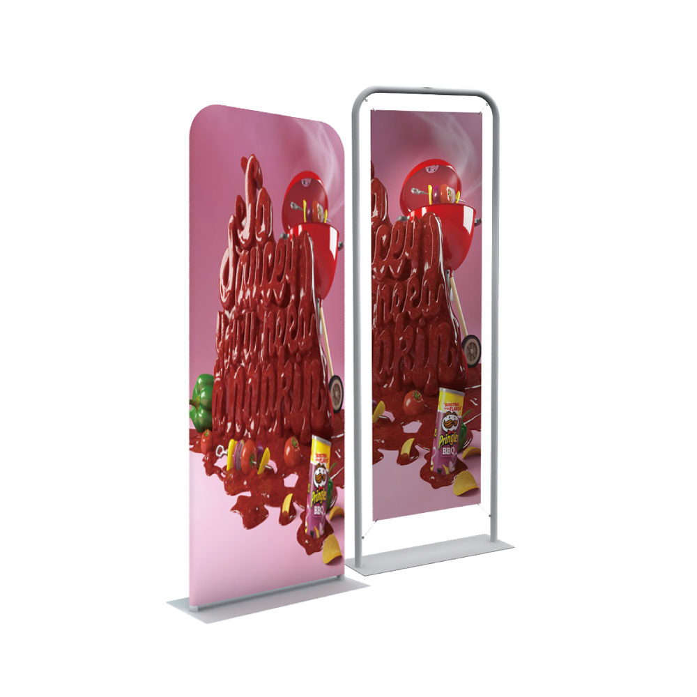 "30"" Silver EZ Tube Banner Stand with Custom Prnting Graphic"