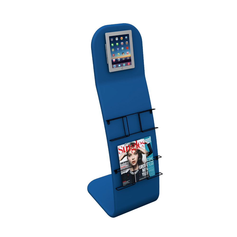 Ipad Stand with Magazine Rack 01