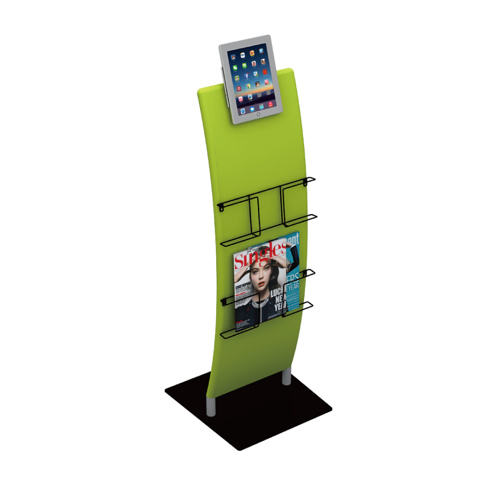 Ipad Stand with Magazine Rack 02