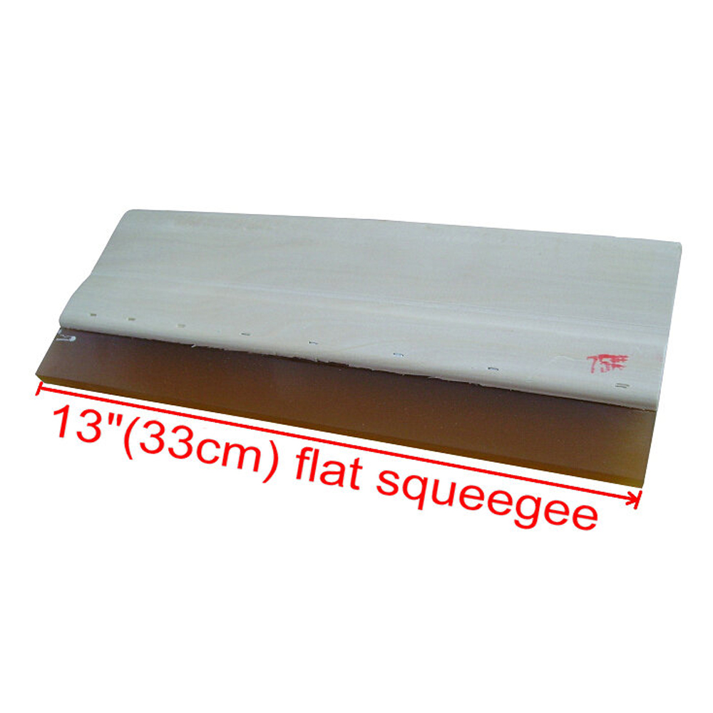 US Stock, High Quality Silk Screen Printing Wood Squeegee Ink Scraper 75 Durometer - 13 In.