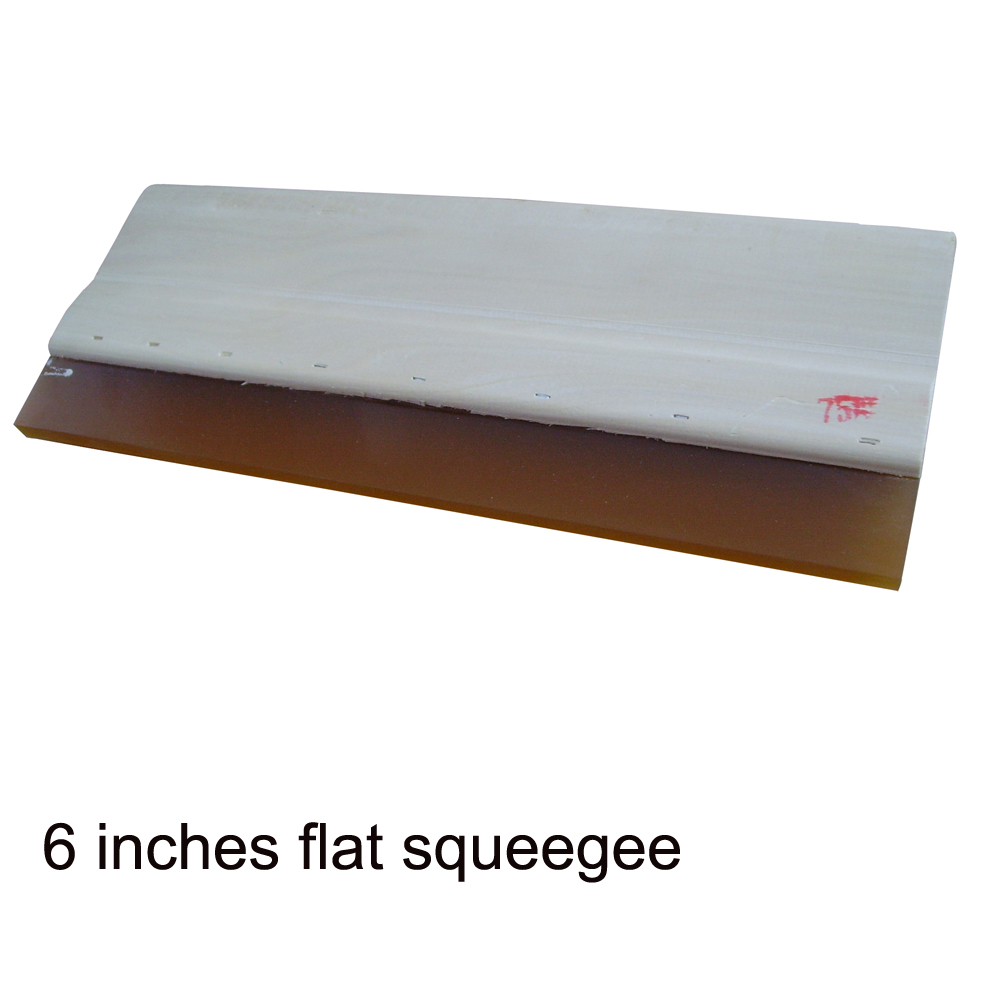 US Stock, High Quality Silk Screen Printing Wood Squeegee Ink Scraper 75 Durometer - 6 In.