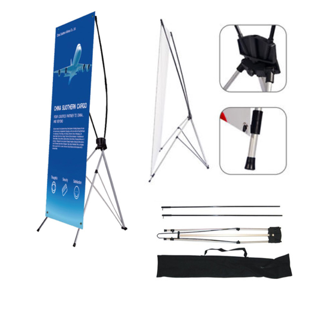 "10pcs 24""x63"" Economy Aluminum Foot X Banner Stand"