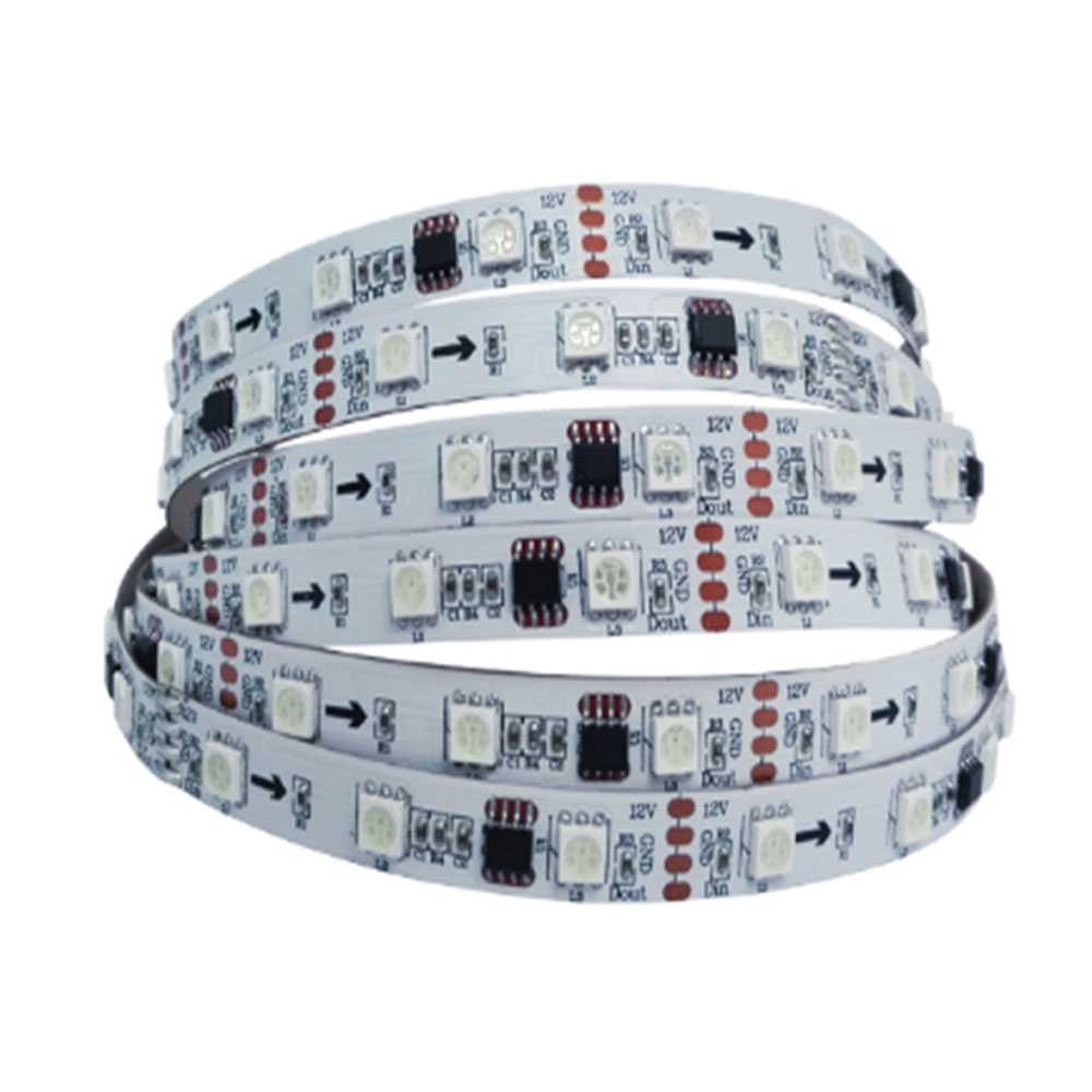 Ving UL Flexible LED Light Strip(48 SMD 5050 Leds Per Meter, Non-waterproof IP20) 5m/roll, WS2811IC, DC12V RGB Magic color Strip
