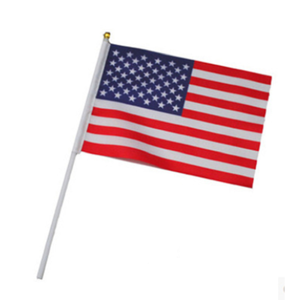 12Pcs/pack Mini American National Hand Waving Flag