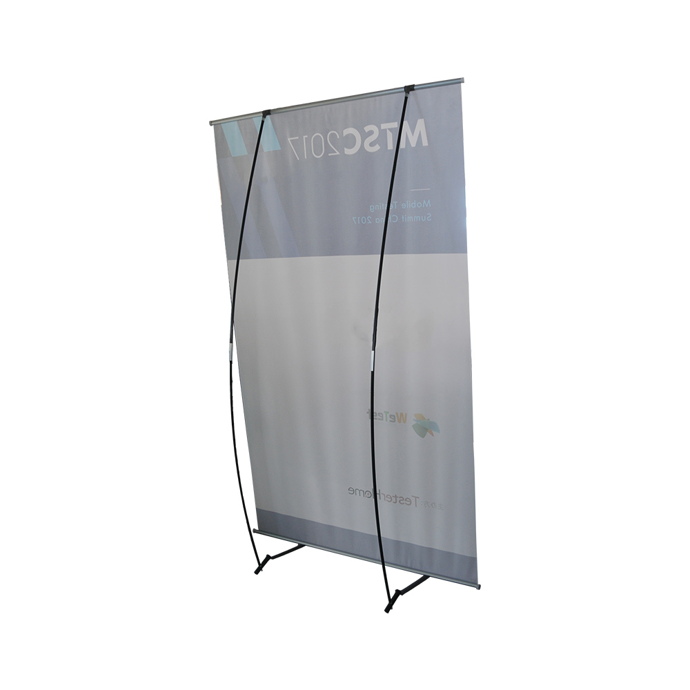 "47""x 79""Economical Iron Foot L Banner Stand"