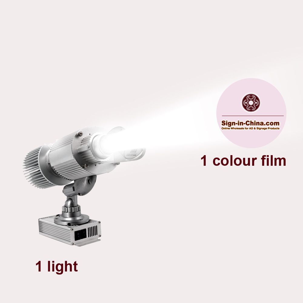 40W Rotary Ring Pattern Scanning LED Advertising Logo Projector Light (Two Colors)