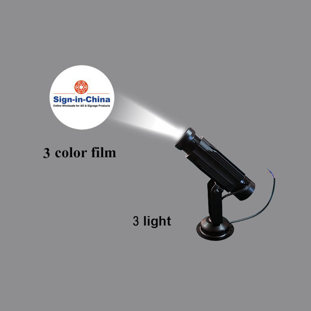 High Quality  20W LED Static Gobo Advertising Logo Projector Light (Two Color)