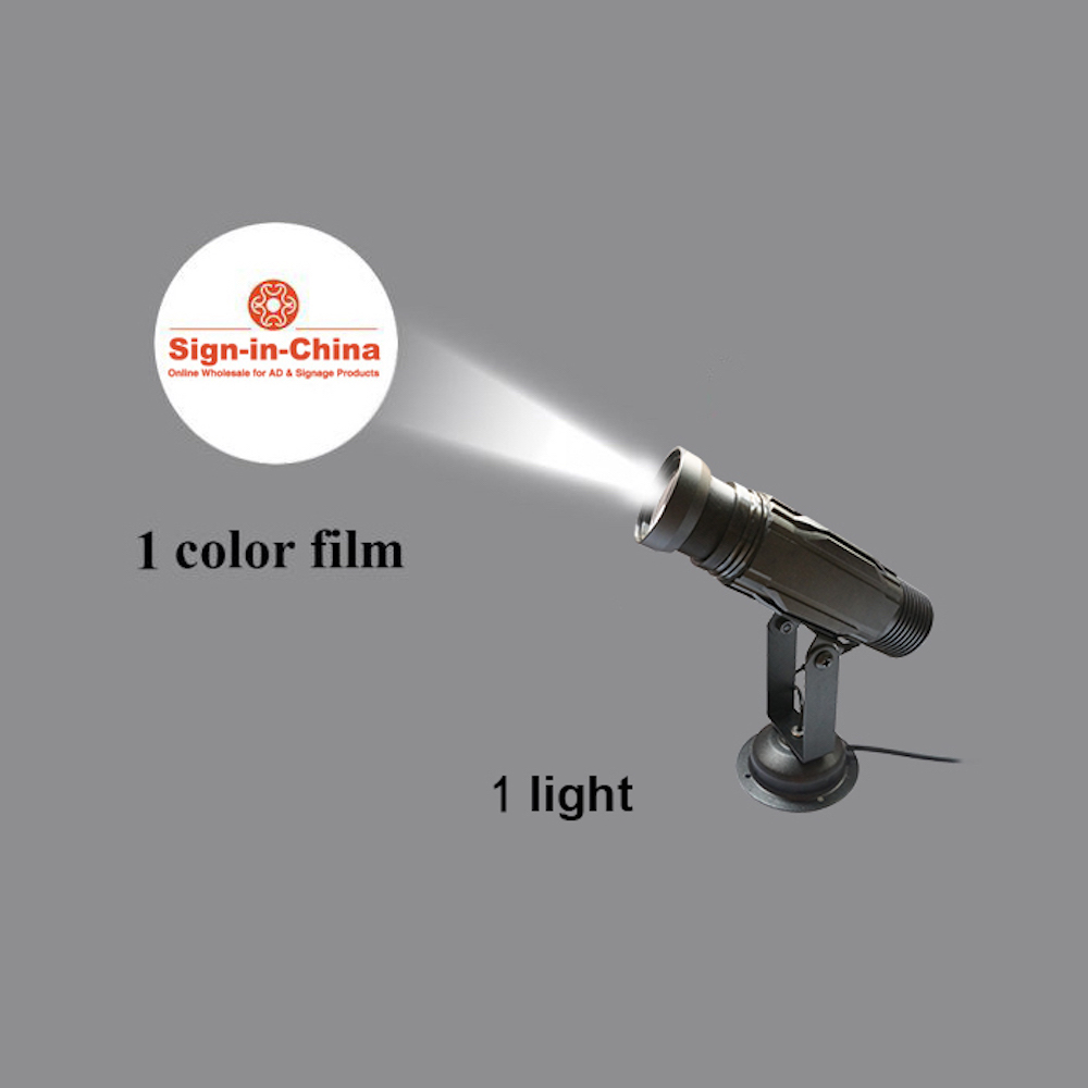 High Quality  12W LED Static Gobo Outdoor Advertising Logo Projector Light (Single Color)
