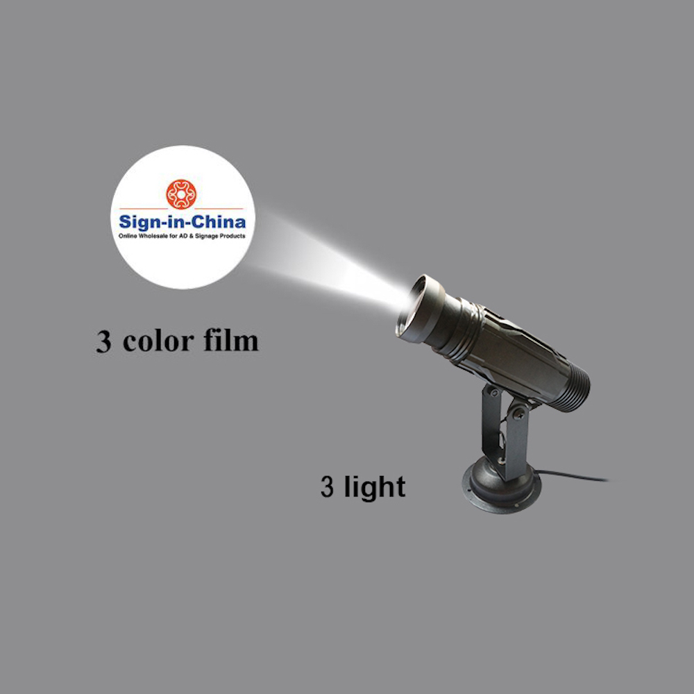 High Quality  12W LED Static Gobo Outdoor Advertising Logo Projector Light (Two Color)