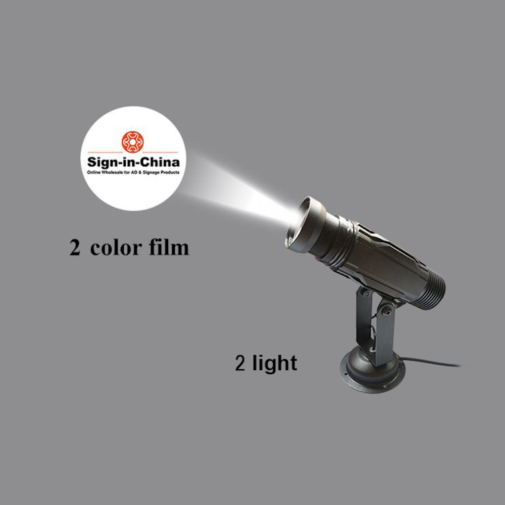 High Quality  12W LED Static Gobo Outdoor Advertising Logo Projector Light (Three Color)