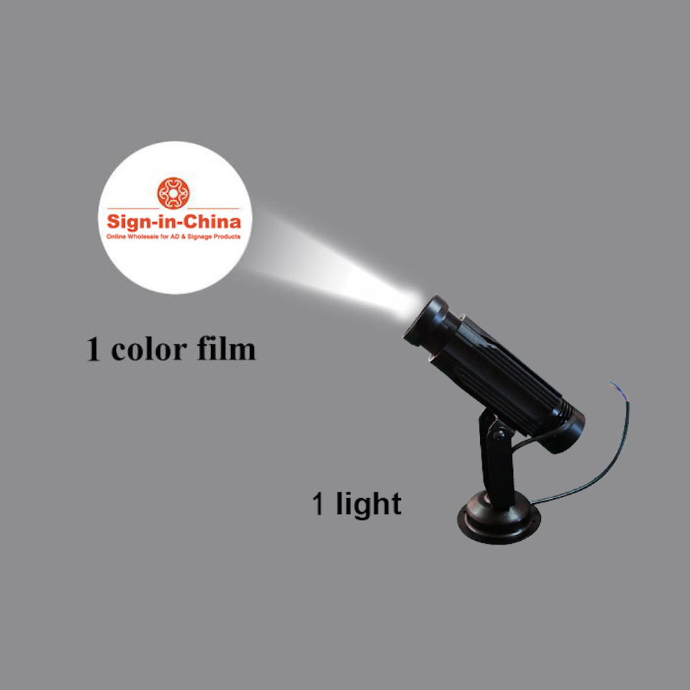 High Quality  20W LED Static Gobo Advertising Logo Projector Light (Single Color)