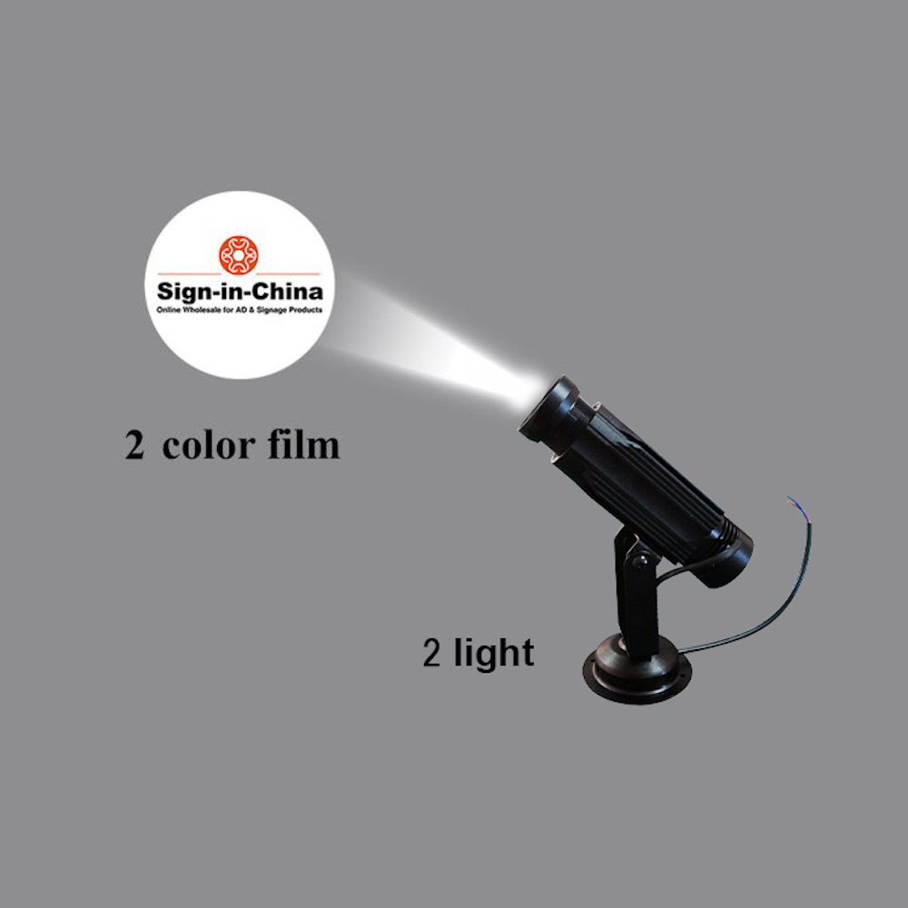 High Quality  20W LED Static Gobo Advertising Logo Projector Light (Three Color)
