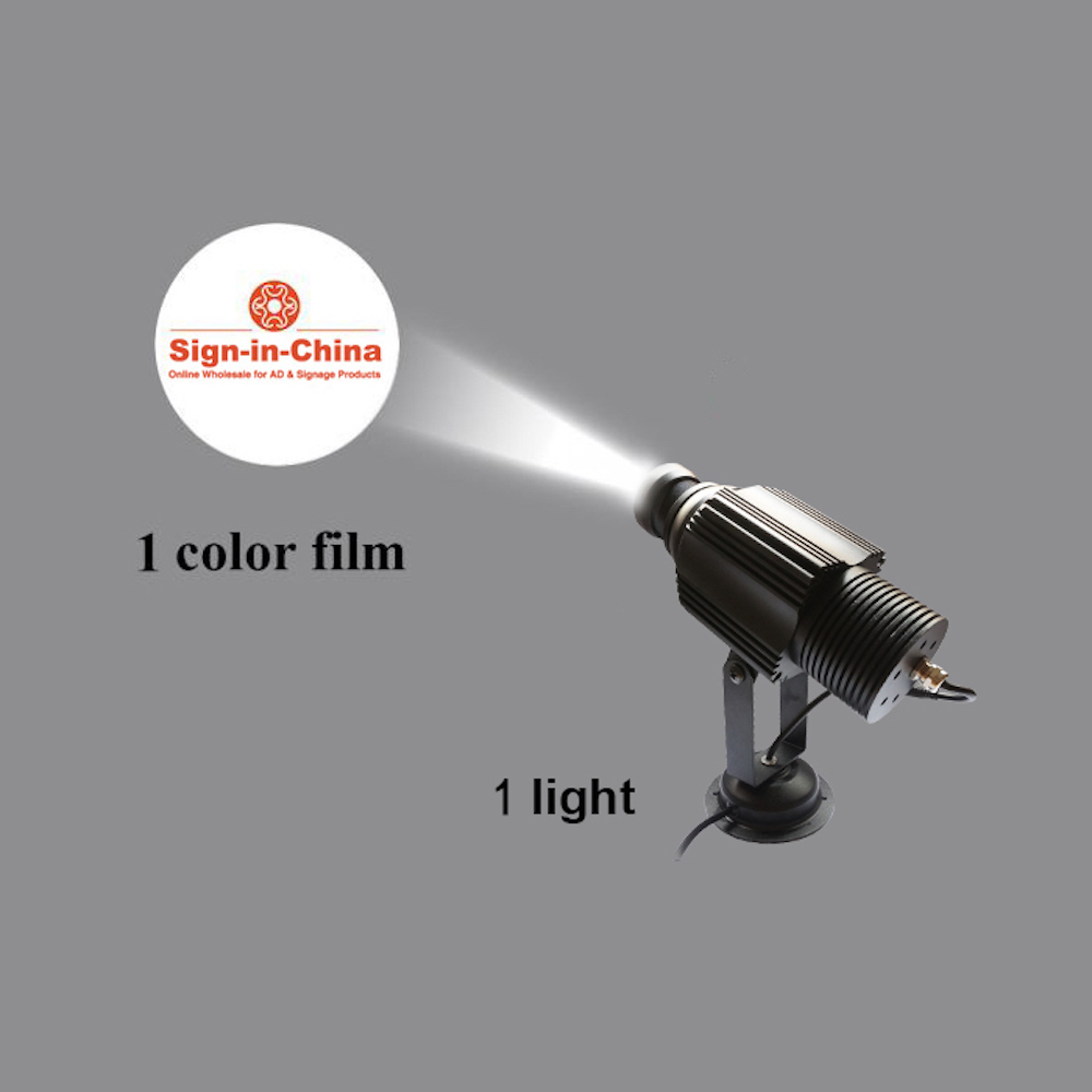 High Quality  20W LED Static Gobo Outdoor Advertising Logo Projector Light (Single Color)