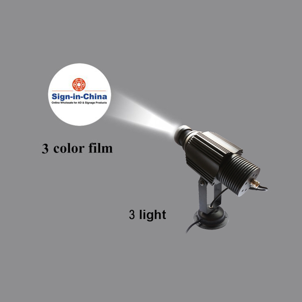 High Quality  20W LED Static Gobo Outdoor Advertising Logo Projector Light (Two Color)
