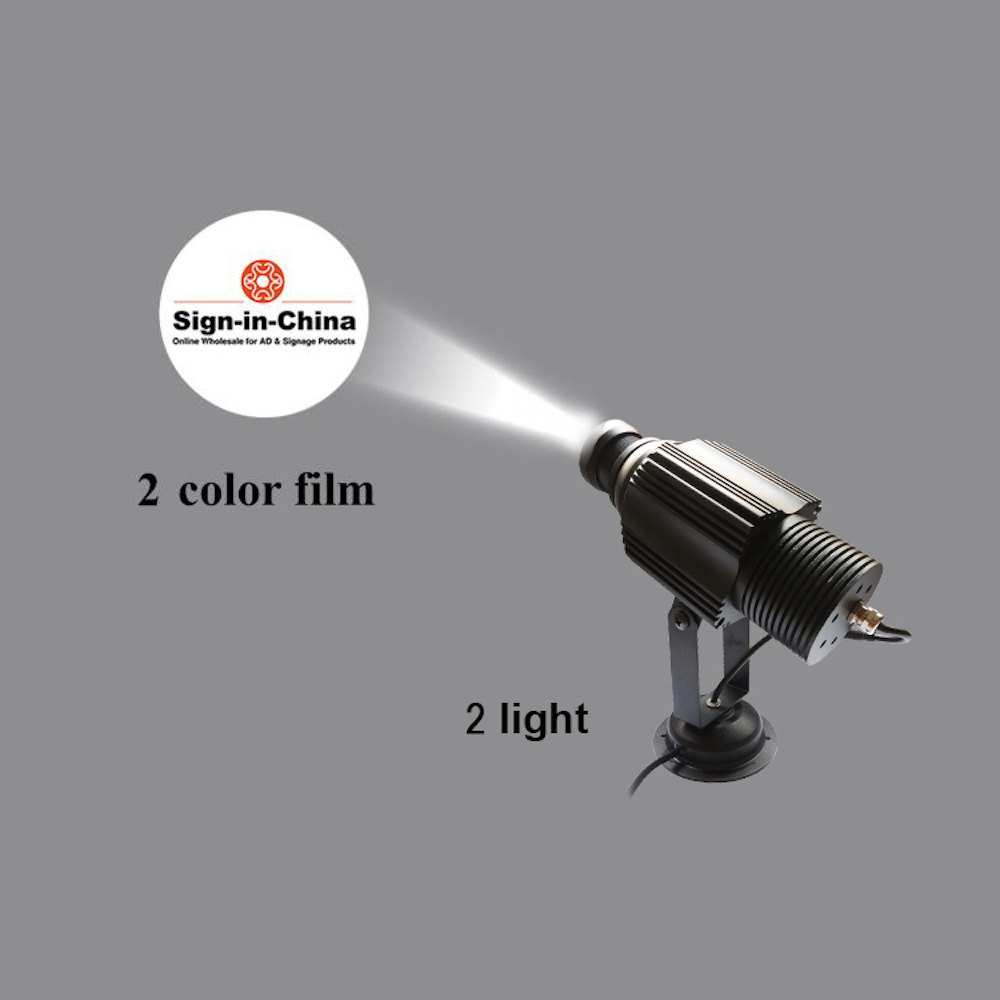 High Quality  30W LED Static Gobo Outdoor Advertising Logo Projector Light (Three Color)