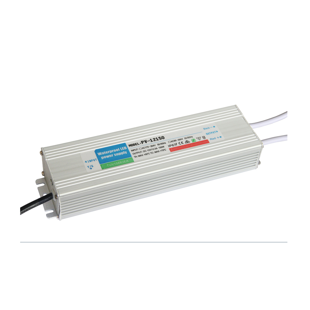 US Stock, Outdoor Waterproof Transformer Power Supply Adapter LED Light Driver AC-DC 12V 12.5A 150W
