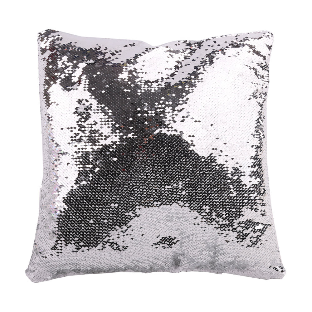 10pcs Square Blank Reversible Sequin Magic Swipe Pillow Cover Cushion Case for Sublimation